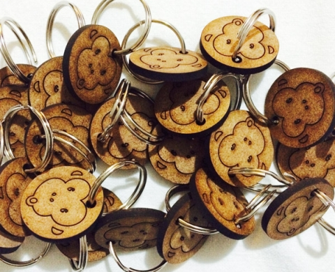 Lasercut Wooden Keyrings