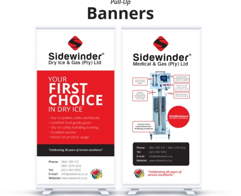 Sidewinder Pull Up Banners