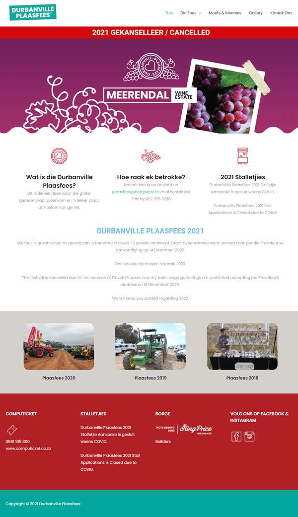 Durbanville Plaasfees Website